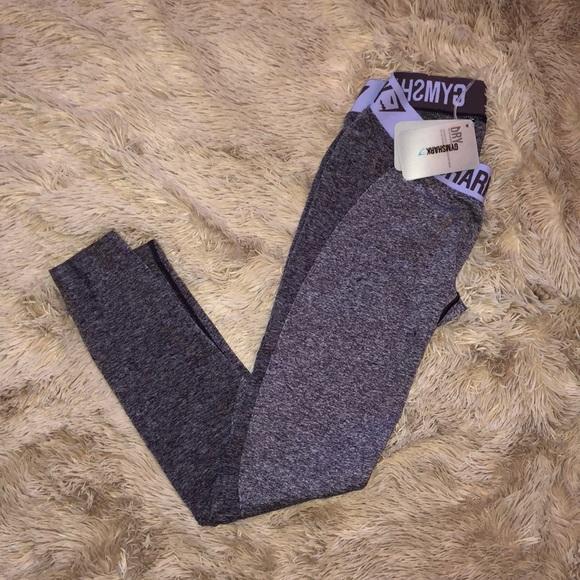 e0532aea46063e gymshark Pants | Flex Leggings Purple Washpastel Lilac | Poshmark